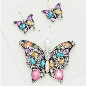 Jewelry - Butterfly Crystals Pendant for Necklace & Earrings